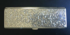 Vintage Japanese .950 Sterling Silver Cigarette Case- No Initials- in Balsa Box