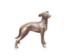 Butler & PEACH dettagliate piccolo bronzo solido lurcher DOG