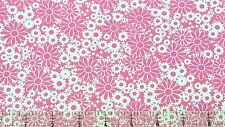 """Fabri-Quilt Baby Talk Pink Daisys 100% cotton 43"""" Fabric by the yard"""