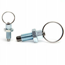 M8 index plunger with ring pull spring loaded retractable  locking pin