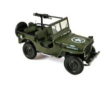 NOREV 189011 US Army Willys JEEP diecast model REAR MACHINE GUN 1942 1:18th