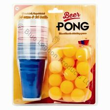 48pc Beer Pong Drinking Game Alcohol American Fun Gift Beerpong Frat Party