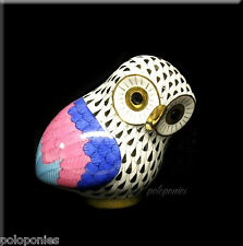 HEREND Owl of Corinth 15663 - Black Fishnet - HOC Collection Limited Edtn 3000