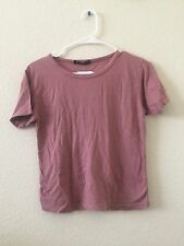 NEW! brandy melville cropped rose pink mason top NWT sz S/M
