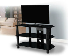 Black Gloss Glass TV Stand Suitable For LCD LED TVs 20 40 42 47 50""