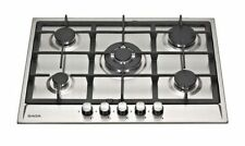 SAGA Attic S751CI 5 Burner Built-in Gas on Glass Hob 70cm Black
