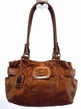 Tignanello Shoulder Handbag Tote Shopper bag Purse Brown Leather Large
