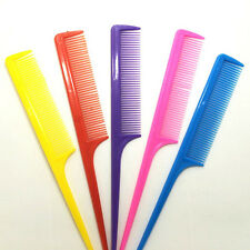 10 x Rat Tail Tint Brush Plastic Styling Comb Hair Pick Handle Hairdressing MCK