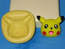 Pokemon Pikachu 2D Push Mold Food Safe Silicone Cake Pop Topper Candy A193 Soap