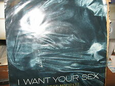 "GEORGE MICHAEL 7"" 45 RPM RECORD I WANT YOUR SEX 2 VERSIONS PICTURE SLEEVE"