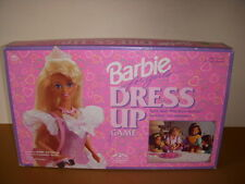 Barbie For Girls Dress Up Board Game, Golden #5066, Nice But Incomplete!