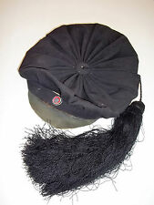 Antique Smokeing Hat pre 1920's Large Long Silk Tassel Beret Cap Military appeal