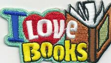Girl Boy Cub I LOVE BOOKS Fun Patches Crests Badges SCOUT GUIDE reading read