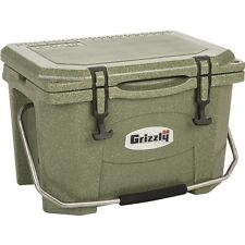 1460 Grizzly 20 Qt Heavy Duty Ice Retention Cooler - Green Granite - Made in USA