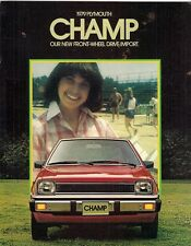 Plymouth Champ 1979 USA Market Sales Brochure Mitsubishi Colt Mirage