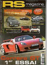RS MAGAZINE 28 RUF 370CH PORSCHE CARRERA GT 996 C2 993 C2S 911 CABRIO TURBOLOOK
