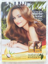2013 Magazine Advertisement Page For Clairol Natural Instincts Sexy Giada Ad