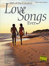 100 Greatest Love Songs Ever Learn to Play Pop PIANO Guitar PVG Music Book