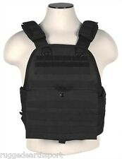 Vism Black Tactical Plate Carrier Vest Molle Operator Chest Assault Rig Med - L