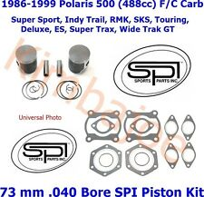 1986-1999 Polaris 500 488cc Indy Trail 73 mm .040 Bore SPI Pistons Gasket