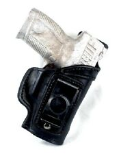 Glock 43 No Laser IWB Single Spring Clip w/Shield Leather Holster R/H Black 1004