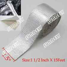 "Adhesive Backed Heat Shield Wrap Tape For Car Intake Intercooler Pipe 1.5"" x 15'"