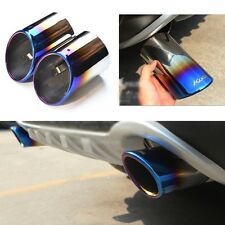 2 Titanium Blue Exhaust Muffler Tail Pipe Tip Tailpipe for Ford Escape 2013-2017