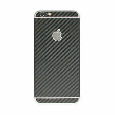 Black Carbon Fibre 3 Piece Skin Sticker Kit wrap Cover for Apple iPhone 6, 6s