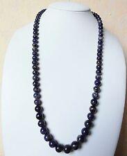 Edelsteinkette Natur Sodalith Collier 60cm Halskette 6-9mm Perlen -True Gems