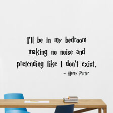 Harry Potter Quote Wall Decal Movie Poster Vinyl Sticker Bedroom Decor Art 84quo