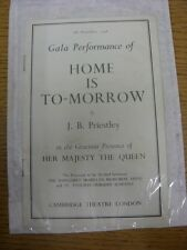 08/11/1948 Theatre Programme: Cambridge Theatre London - Gala Performance Of 'Ho