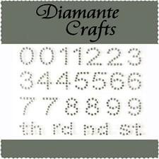 Diamante Numbers Rhinestone Vajazzle Self Adhesive Body Art  Gems 1234