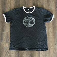 Timberland Men's Ringer T-Shirt Extra Large XL 50/50 Organic Cotton Earthkeepers