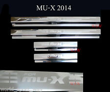 SILL SCUFF PLATE 4 DOOR STAINLESS STILL SET FOR NEW ISUZU MU-X MUX SUV 14 15 NEW