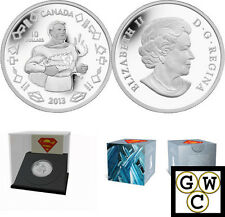 2013 'Vintage Superman' Proof $10 Silver Coin .9999 Fine *No Tax (13287)