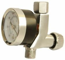 "Spray Gun Mini Air Regulator Gauge Paint Adjustable Dial 1/4"" HVLP Compressor"