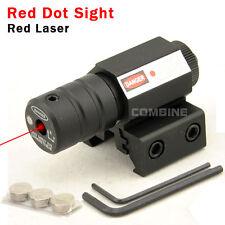 Caza compacto táctico 650nm 1mW láser rojo vista punto 20mm/11mm riel montaje
