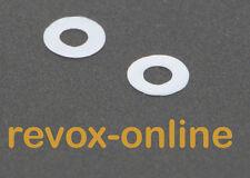 2 Teflonscheiben, Gleitscheiben für alle Studer Revox B77 MK II, PR99, A77   NEU