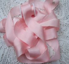 """100% PURE SILK RIBBON ~PEACHY/PINK~COLOR   5 YDS 1"""" [25MM] WIDE"""
