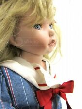 Rare Kathy Smith Fitzpatrick Realistic Porcelain Sitting Collectiable Doll 26''