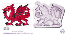 WELSH DRAGON Medium Craft Sugarcraft Wax Resin Soap Sculpey Silicone Mould Mold