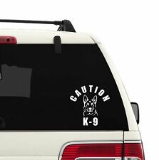 CAUTION K-9 POLICE DOG VINYL STICKER/DECAL FOR WINDOW/AUTO/HOME/OFFICE
