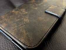 Genuine Real Leather Luxury Vintage Brown Pouch Wallet Case For Iphone 6 6S 4.7""