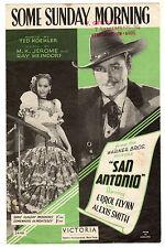Errol Flynn & Alexis Smith-alcuni domenica mattina SPARTITO MUSICALE 1945