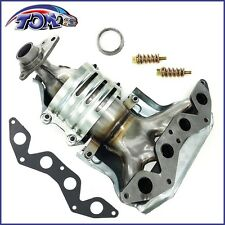 NEW EXHAUST MANIFOLD W/ CATALYTIC CONVERTER FOR 01-05 HONDA CIVIC 1.7L L4  SOHC