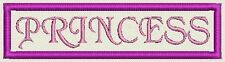 "Custom Rectangle Name Patch, Tag, Label 4"" x 1"" - Iron On / Sew On - Fast Ship"