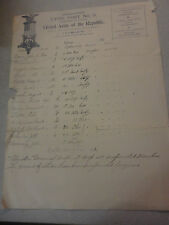 Early 1900s GAR Grand Army of the Republic Lyon Post 9 List of 22 Members
