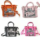 Black Hot Pink Light Pink Orange Zebra Smile Face Girl Kids Handbag Shoulder Bag
