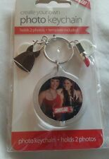 Create Your Own Photo Key Ring / Keychain-black dress & red lipstick Charm.bnip.