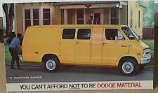 1971 71 DODGE MATERIAL TRADESMAN VAN MOPAR DEALER  DEALERSHIP POSTCARD PROMO